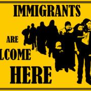 Immigrants Welcome by Yakira Teitel, Justseeds